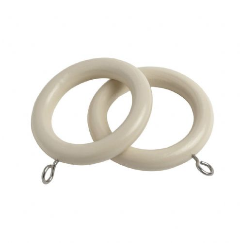 Speedy Victory  28mm Wooden Curtain Rings (Pack of 6) - Stone